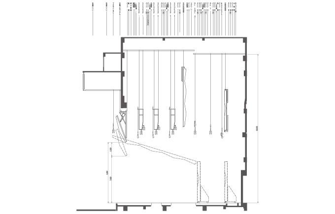 大ホール 吊り物 機構図(断面)