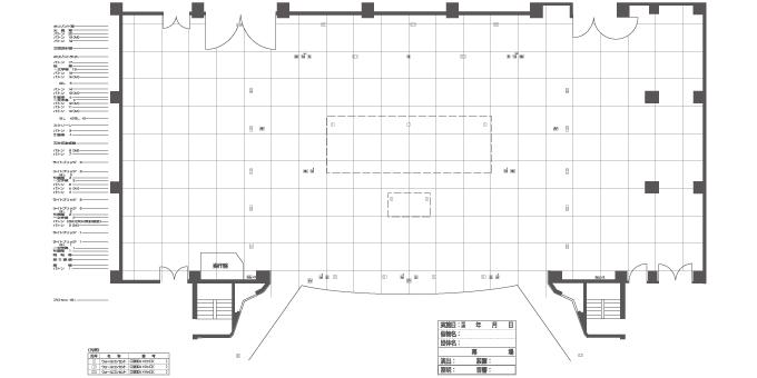 大ホール 舞台 床伏図(反射板なし)