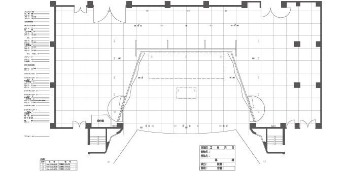 大ホール 舞台 床伏図(反射板あり)