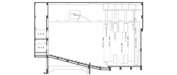 小ホール 吊り物 機構図(断面)